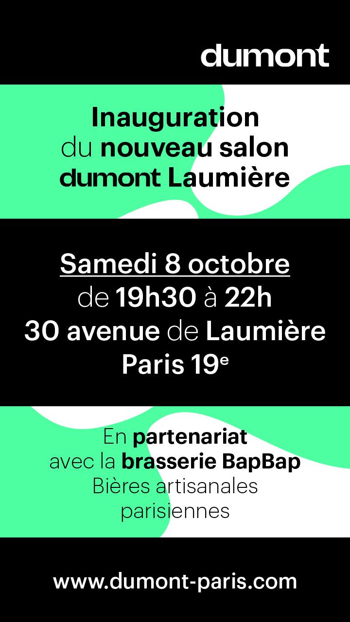invitation lancement nouveau salons Dumont